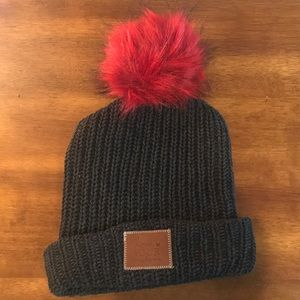 NWOT Love Your Melon Cuffed Pom Beanie